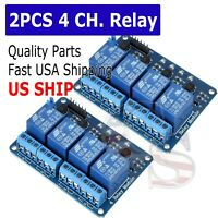 2PCS 4 Channel DC 5V Relay Switch Module for Arduino Raspberry Pi ARM AVR DSP
