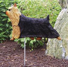 Yorkie Terrier Outdoor Garden Dog Sign Hand Painted Figure