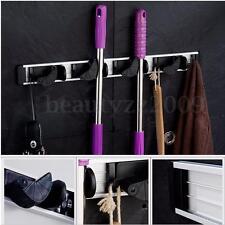 Wall Mounted Mop Brush Broom Organizer Holder Hanger Storage Kitchen Rack Tool