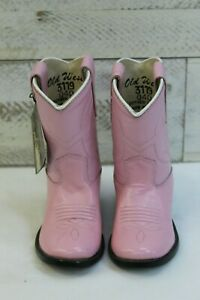 Old West Infant/Toddler Boots-Pink Round Toe, Style 3119
