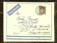 MOROCCO AGENCIES (P1206B) 1936 KGV 6D A/M TANGIER TO CZECHOSLOVAKIA
