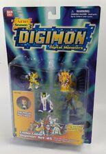Raro Bandai Digimon Coleccionable Set 45 PVC Renamon & Rika de Figuras Cardado