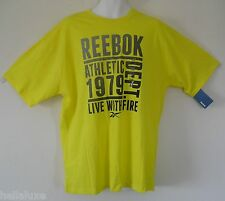 NWT~Reebok ATHLETIC DEPT LIVE WITH FIRE TEE Graphic CLASSIC Shirt Top~Mens sz XL