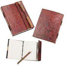 Embossed Leather Journal / Diary With Pencil Ideal for Larp