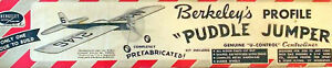 Berkeley PUDDLE JUMPER Sr & PROFILE 1/2A PLANS to Build TWO UC Model Airplanes