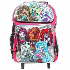 "Monster High 8 Chicas grandes de 16 ""Mochila Rodante-Plata-Nuevo"