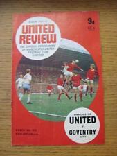 30/03/1970 Manchester United v Coventry City  (Folded)