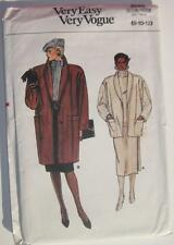 1986 Easy VERY VOGUE #9086 Sewing Pattern Misses Loose Fitting Jacket Sz 8-10-12