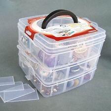 18 Grid Transparent Box Jewelry Content Compartments Plastic Storage Box P351