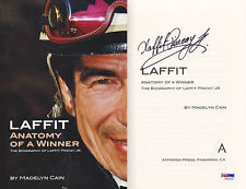 Laffit Pincay SIGNED Laffit Anatomy of a Winner 1st PSA/DNA AUTOGRAPHED Jockey