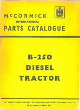 McCormick International Tractor B250 Parts Manual