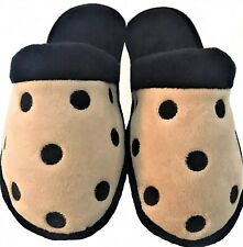 Adorable Isotoner Women's CLOG SLIPPERS,Taupe w/Black Polka Dots,Sz. S (7.5-8.0)