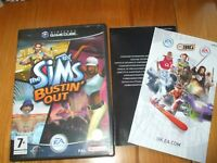 THE SIMS BUSTIN OUT NINTENDO GAMECUBE GAME UK PAL NINTENDO WII