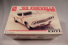 VINTAGE AMT ERTL 1969 CHEVELLE SS 396 CHEVROLET MODEL KIT  # 6567 1/25 IN COLOR