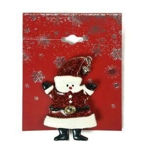 Santa Pin Brooch Enamel Christmas Holiday Gift NEW