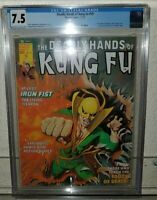 DEADLY HANDS OF KUNG FU #19 CGC 7.5 first appear of WHITE TIGER shang chi MARVEL