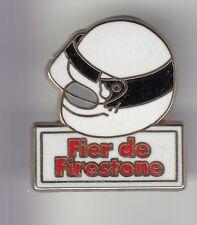 RARE PINS PIN'S .. AUTO CAR PNEU TYRE F1 RALLYE RACE CASQUE BLANC FIRESTONE ~DC