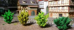 50 Büsche, Sträucher, 30 mm, hellgrün, mittelgrün, dunkelgrün, dunkelgelbgrün