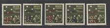 "BRAZIL - C55 - C59 - MNH - 1944 - ""AERO"" & NEW VALUE O/P ON SEMI POSTAL"