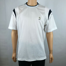 Lotto Mens Official Atp Tennis Jersey T Shirt White Navy Blue Breathable Size Xl