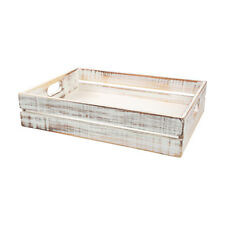 T&G Woodware Drift Tray Crate Large Rustic White FREE DELIVERY 9542P