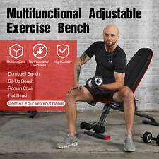 Adjustable Weight Bench Foldable Multipurpose Workout Bench for Home Gym