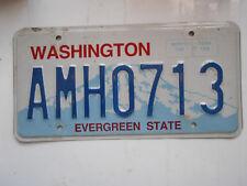 plaque immatriculation  usa washington license plate old americaine 0713
