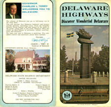 Vintage 1968 Delaware Official Road Map from DE State Highway Department