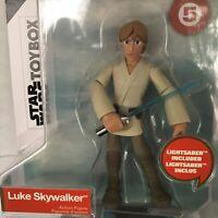 Star Wars Disney Store Toybox Luke Skywalker Action Figure Lightsaber #5