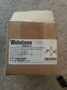 Nebco Webstone H-77211W Thermostatic Mixing Valve 3/8 in Brass & Chrome