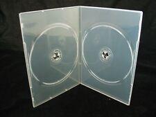 20 X DOPPIA CHIARO SLIM 7mm DORSO DVD / CD / BLU RAY caso
