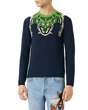 NEW Authentic Gucci Tiger Stripe Intarsia Wool Knitted Sweater Pullover L (50IT)