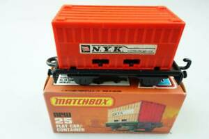 25-C Flat Car & Container N.Y.K. - 50746 Matchbox Superfast Lesney