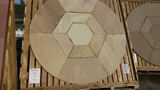 BRADSTONE S/STONE CIRCLE & HEXAGON INSET 2.4M FOSSIL BUFF 21627 DELIVERY INCLUDE