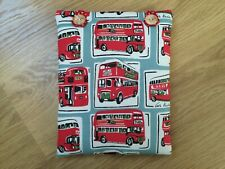 HANDMADE BOOK COVER SLEEVE POUCH MADE USING CATH KIDSTON RED LONDON BUS FABRIC