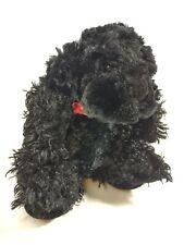 """Ganz Black Classy Spaniel Dog 8"""" Plush Realistic Puppy Stuffed Animal HV8924"""