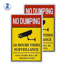 2 Pack No Dumping Sign, Violators Will Be Prosecuted Sign