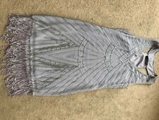 Jane Norman 20s style grey beaded and tassels dress size 6 (might fit 8)