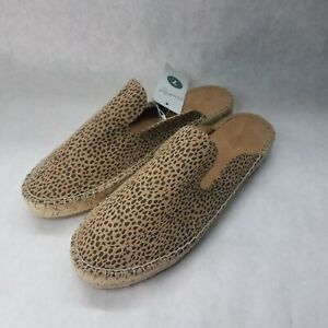 UNIVERSAL THREAD WOMENS SLIDE ON LEOPARD PRINT CLARA ESPADRILLE MULES, NEW