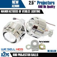 "2x 2.5"" Mini HID Bi-xenon Projector lens Kit Headlight Bulb Shroud H1 UK Stock"