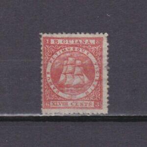 BRITISH GUIANA 1863, SG# 82, CV £75, 48c red, Perf 12½, MH