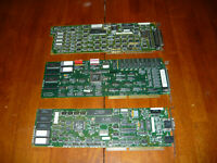 Lot of 3 Vintage ISA Cards Full Length SCSI Network Tape Drive Untested 80s 90s