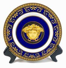 Versace Rosenthal Medusa Blue Round Bread Plate FANTASTIC CONDITION!!!