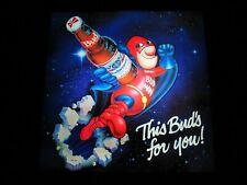 New *Awesome* Vtg Budweiser Bud Man Budman In Motion Beer Bar Light Pub Sign Wow
