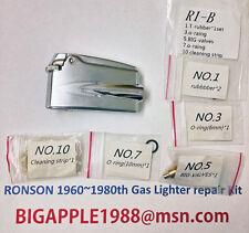Ronson 1960~1980th Vintage Gas Lighter repair Kit R1-B Free Youtube DIY Video 2