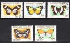 Papillons Togo (23) série complète de 5 timbres oblitérés