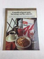 Vintage Kelloggs 1973 Special K Food Art Print Collectible Advertisement 10 x 13
