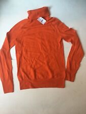 NWT $78 J.Crew  jcrew orange Turtle Neck Wool Sweater Size Xs NEW