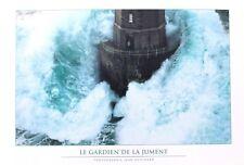 poster 50 cm vague et gardien de phare Bretagne photo couleur déco marine mer