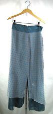 ANUPAMAA Blue Multi Color Print Silk Blend Mid Calf Skirt Size 6